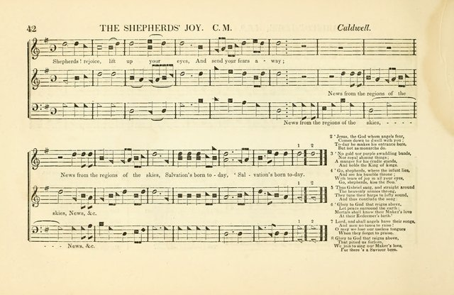 Southern and Western Pocket Harmonist: intended as an appendix to Southern Harmony; embracing the principle hymns, songs, choruses and revival tunes, usually sung at protracted and campmeetings... page 49