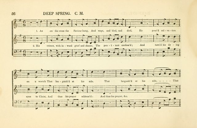 Southern and Western Pocket Harmonist: intended as an appendix to Southern Harmony; embracing the principle hymns, songs, choruses and revival tunes, usually sung at protracted and campmeetings... page 63