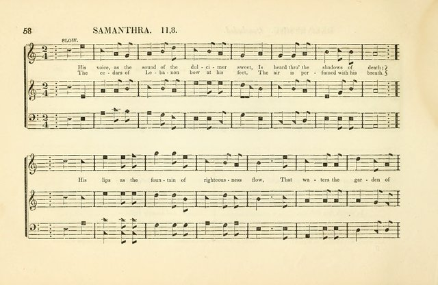 Southern and Western Pocket Harmonist: intended as an appendix to Southern Harmony; embracing the principle hymns, songs, choruses and revival tunes, usually sung at protracted and campmeetings... page 65