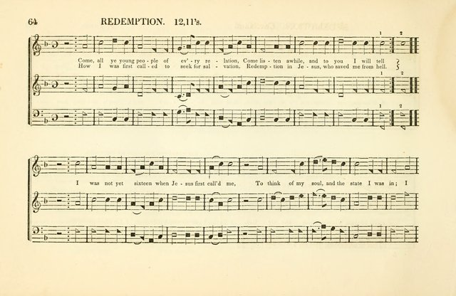 Southern and Western Pocket Harmonist: intended as an appendix to Southern Harmony; embracing the principle hymns, songs, choruses and revival tunes, usually sung at protracted and campmeetings... page 71
