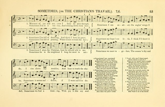 Southern and Western Pocket Harmonist: intended as an appendix to Southern Harmony; embracing the principle hymns, songs, choruses and revival tunes, usually sung at protracted and campmeetings... page 90