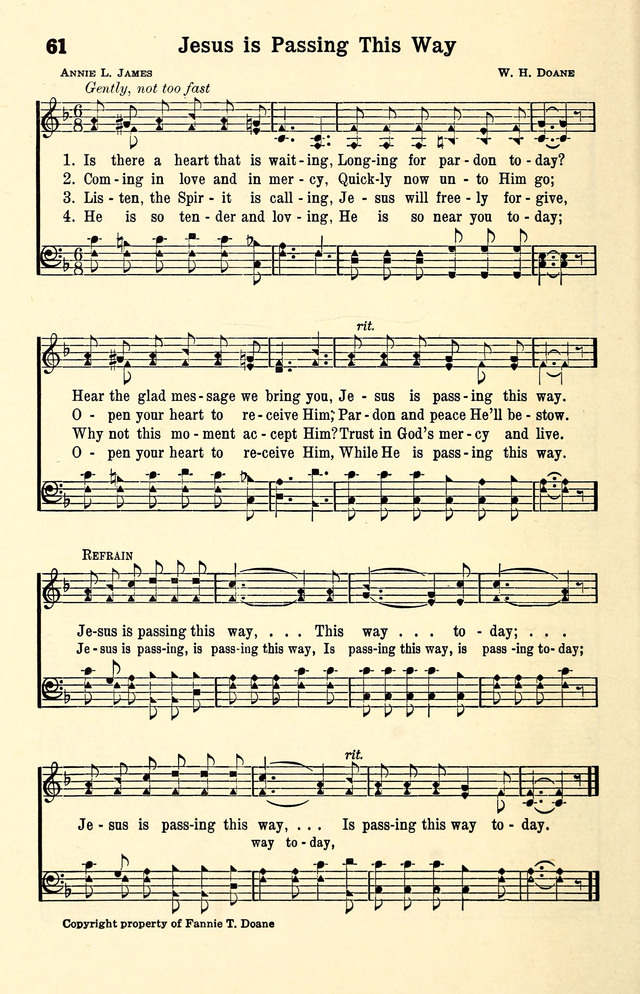 Lyric glad i got jesus down in my heart lyrics : Jesus Is Passing This Way | Hymnary.org