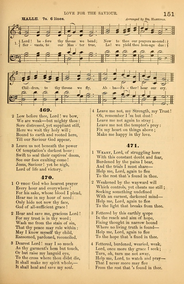 Songs of the Church: or, hymns and tunes for Christian worship page 151