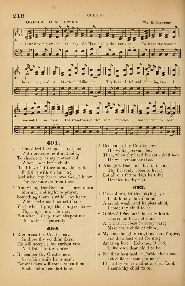 Songs of the Church: or, hymns and tunes for Christian worship page 218