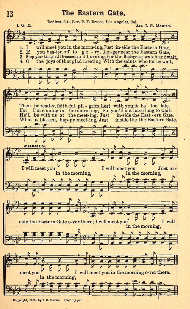 Songs Of Full Salvation 13 I Will Meet You In The Morning Hymnaryorg