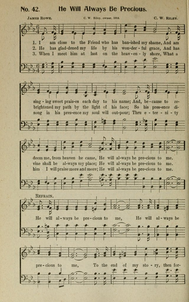 Songs Of Grace And Glory A New And Inspiring Selection Of Sacred Songs For Evangelical Use And