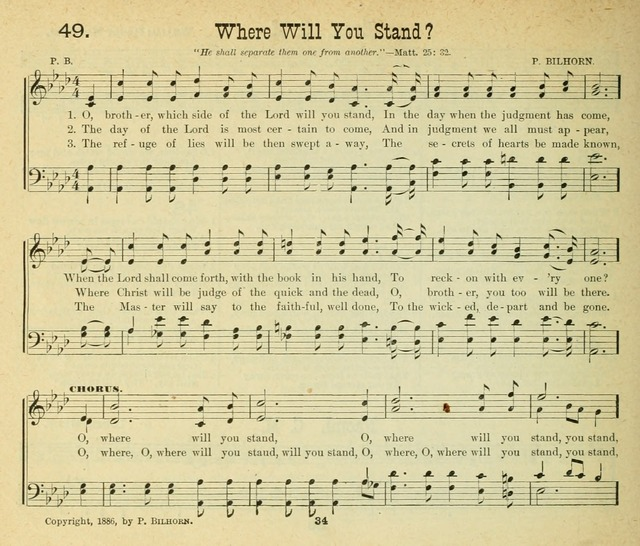 Songs of the Morning, a choice collection of songs and hymns for the Sunday school and other social services page 35