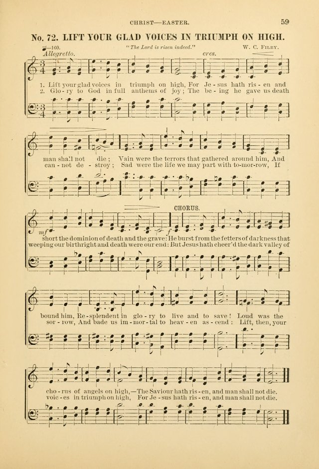 The Spirit of Praise: a collection of music with hymns for use in Sabbath-school services and church meetings page 61