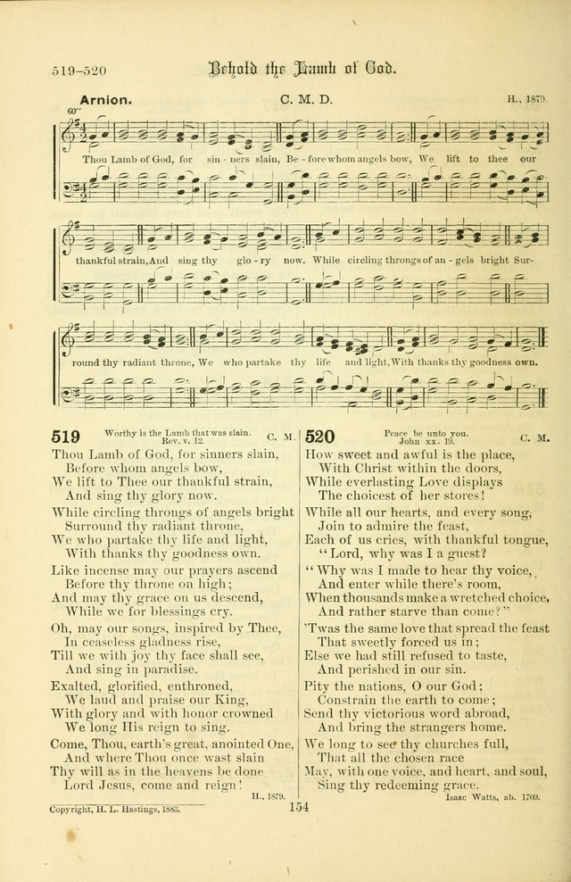 Songs of Pilgrimage: a hymnal for the churches of Christ (2nd ed.) page 154