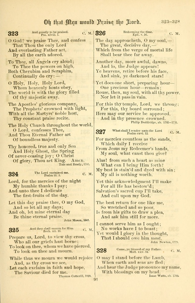 Songs of Pilgrimage: a hymnal for the churches of Christ (2nd ed.) page 91