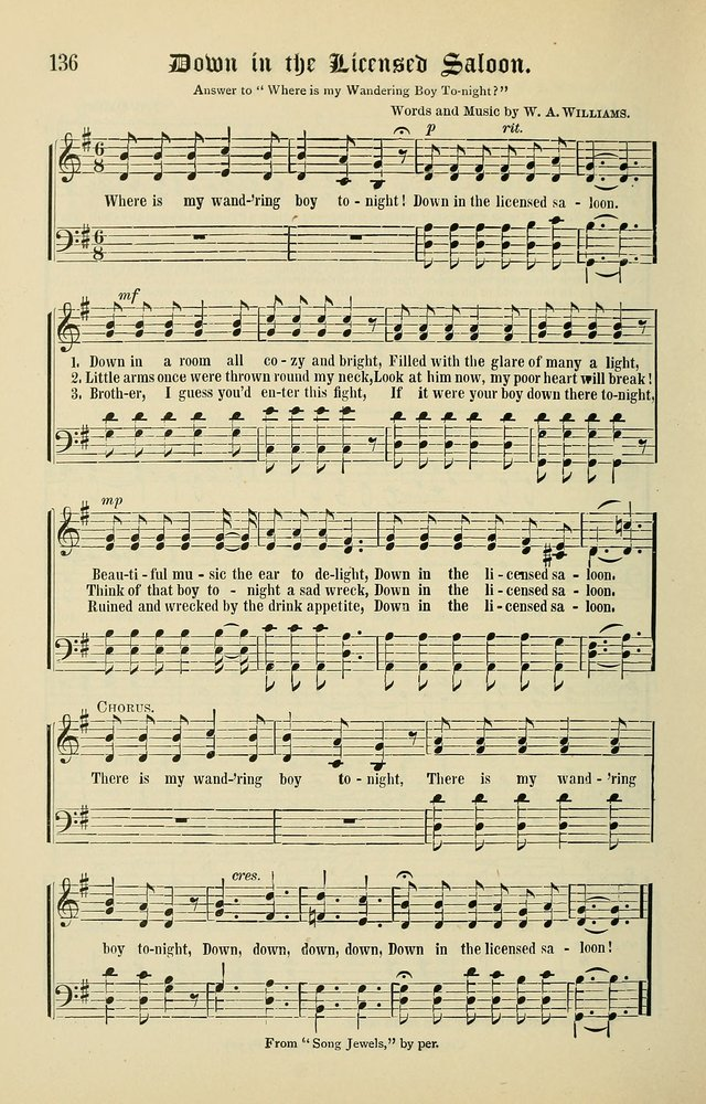 Songs of the Peacemaker: a collection of sacred songs and hymns for use in all services of the church, Sunday-school, home circle, and all kinds of evangelistic work page 136