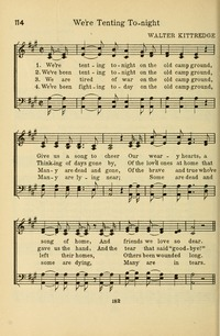 The Army and Navy Hymnal (1921) p.369  sc 1 st  Hymnary.org & Weu0027re tenting tonight on the old camp ground | Hymnary.org