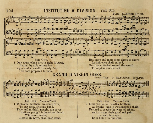 Temperance Chimes: comprising a great variety of new music, glees, songs, and hymns, designed for the use of temperance meeting and organizations, glee clubs, bands of hope, and the home circle page 124