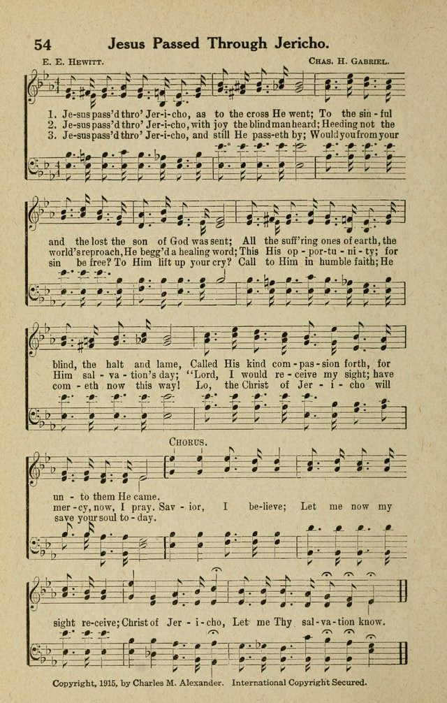 The Tabernacle Hymns page 54