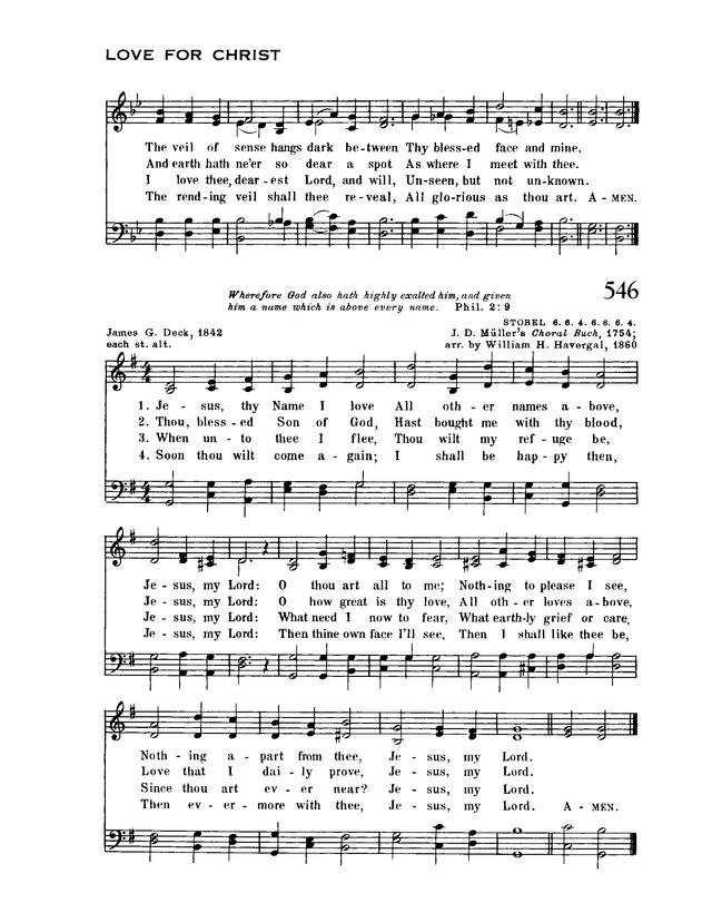 Jesus, thy name I love | Hymnary.org