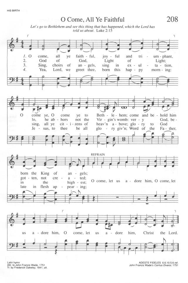 Trinity Hymnal (Rev. ed.) 208. O come, all ye faithful | Hymnary.org