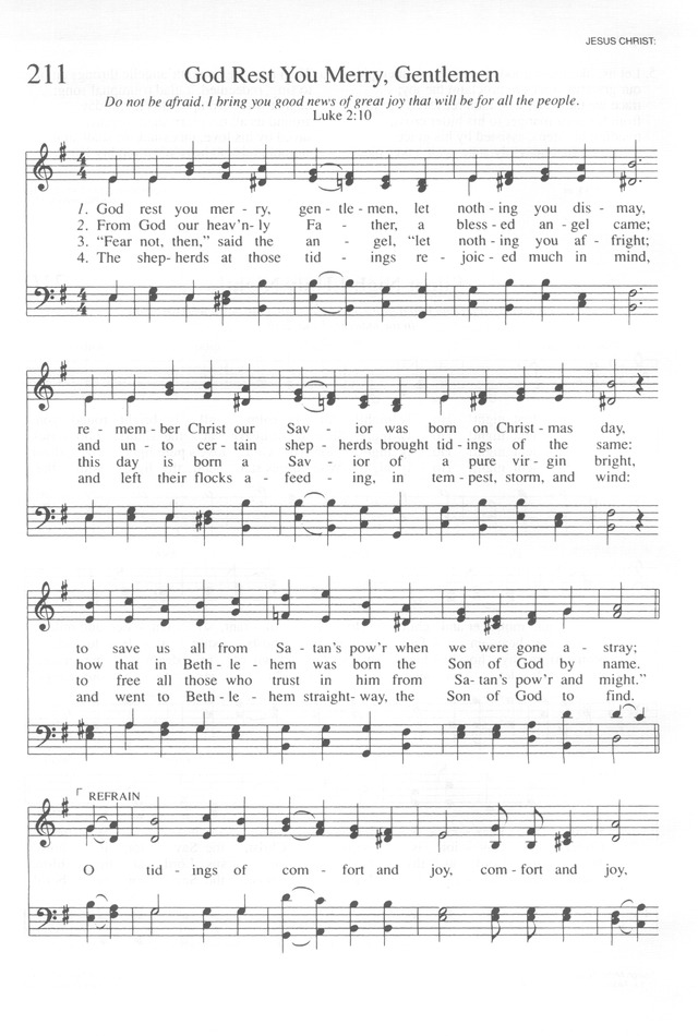 Trinity Hymnal (Rev. ed.) 211. God rest you merry ...