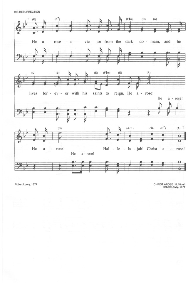 Trinity Hymnal (Rev. ed.) 276. Low in the grave he lay | Hymnary.org