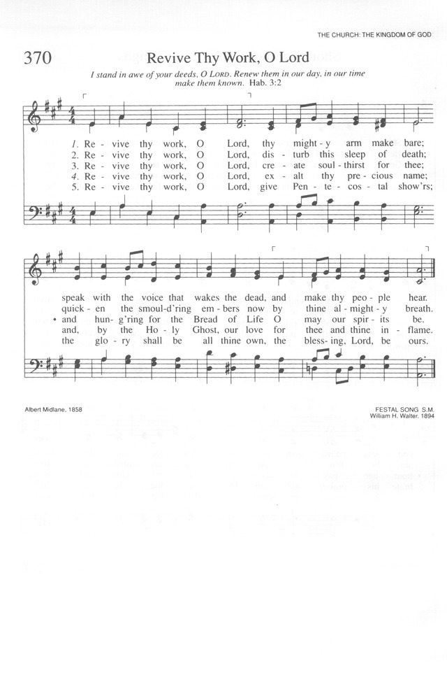 Revive Thy Work O Lord Hymnary