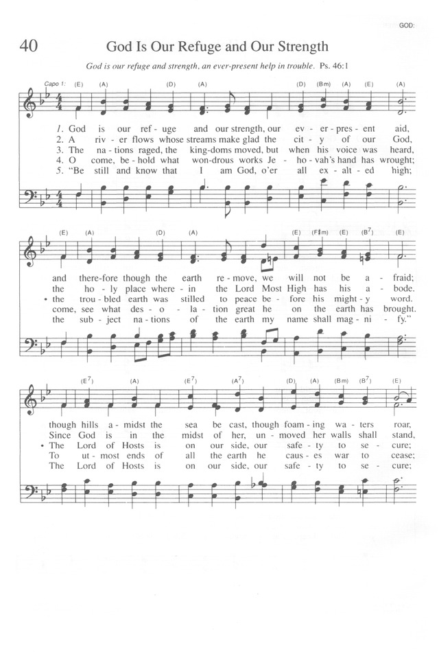 Trinity Hymnal (Rev  ed ) 40  God is our refuge and our