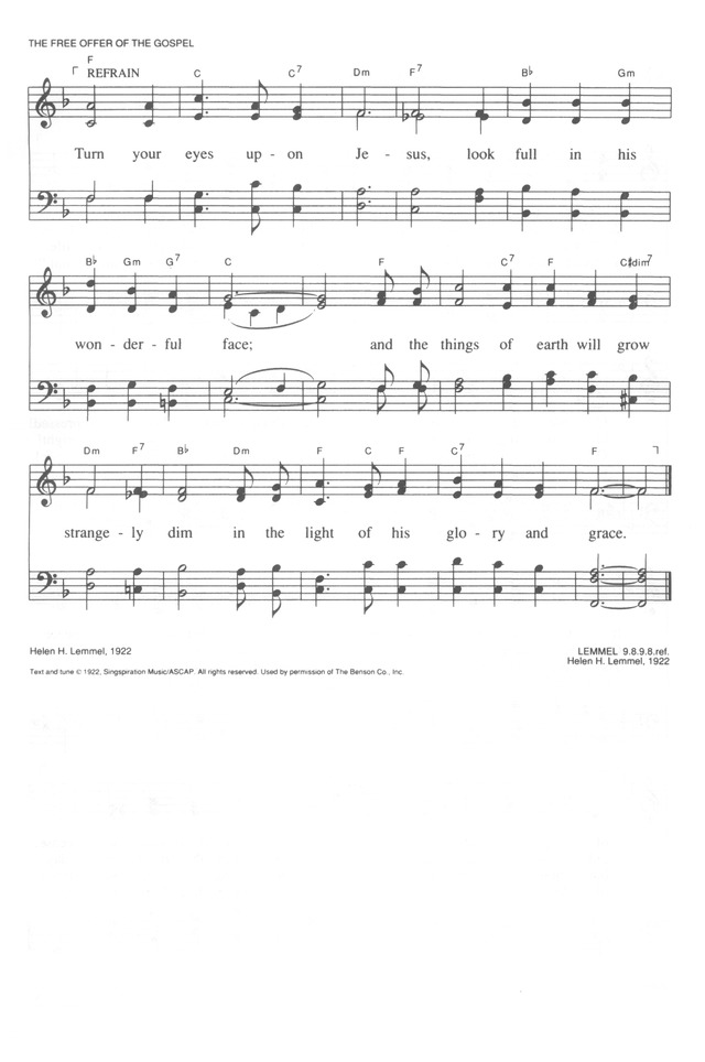 Trinity Hymnal (Rev. ed.) 481. O soul, are you weary and troubled ...