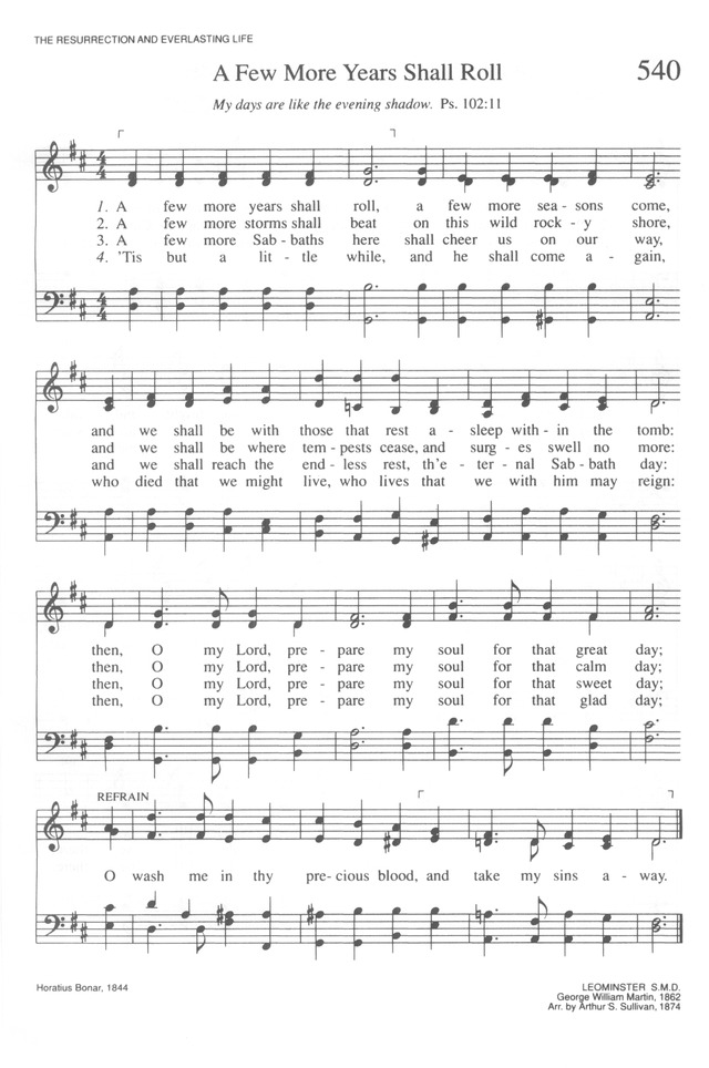 A Few More Years Shall Roll Hymnary