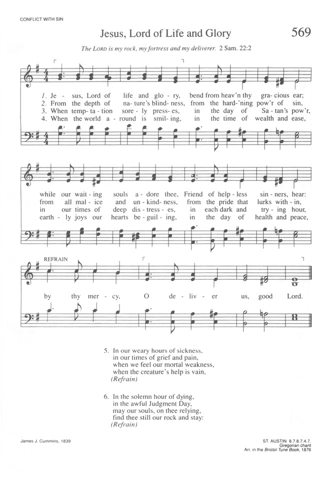 Jesu, Lord of life and glory | Hymnary org