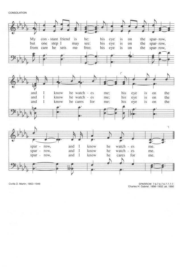 All Music Chords his eye is on the sparrow music sheet : Trinity Hymnal (Rev. ed.) 618. Why should I feel discouraged ...