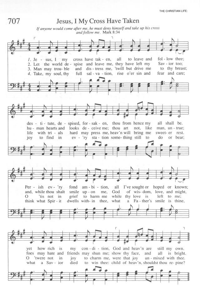 Trinity Hymnal Rev Ed 707 Jesus I My Cross Have Taken