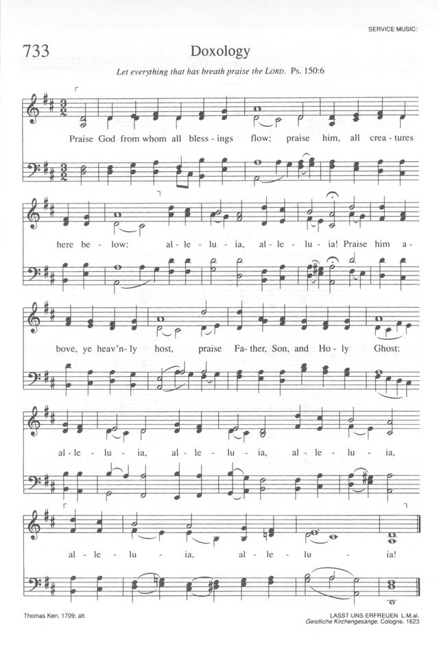 Lyric praise god from whom all blessings flow lyrics : Trinity Hymnal (Rev. ed.) 733. Praise God from whom all blessings ...