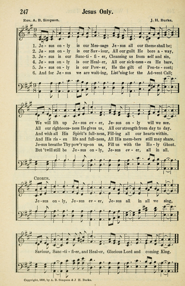 Tabernacle Hymns No 2 247 Jesus Only Is Our Message Hymnary