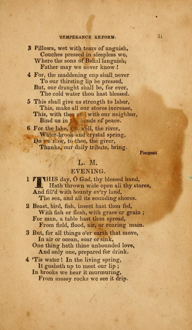 Temperance Hymn Book and Minstrel: a collection of hymns, songs and odes for temperance meetings and festivals page 31