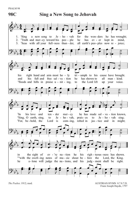 Sing a New Song to the Lord God | Hymnary org