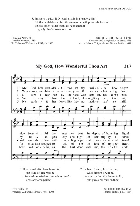 My God, How Wonderful Thou Art | Hymnary org