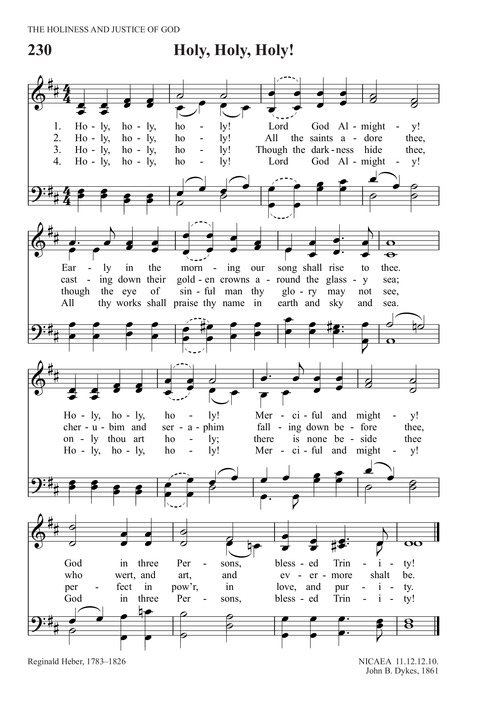 Holy, Holy, Holy! Lord God Almighty! | Hymnary org
