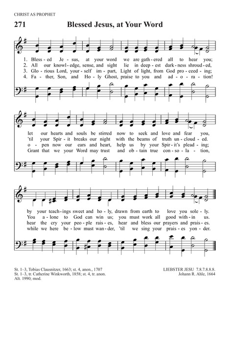 Download PDF The Sunday Choir (Blessed Jesus, At Thy Word)