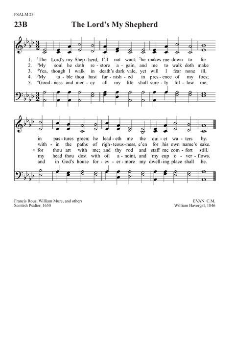 The Lord S My Shepherd Hymnary Org