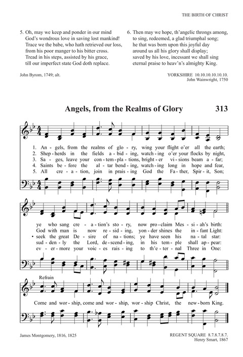 Angels From the Realms of Glory | Hymnary org