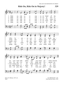 Ride on! ride on in majesty! | Hymnary org