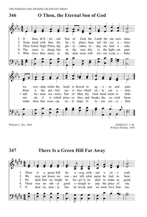 There is a green hill far away | Hymnary org