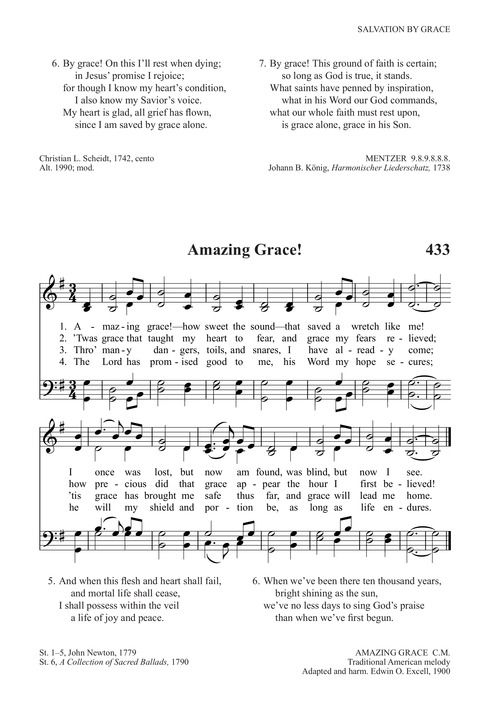 Amazing grace! (how sweet the sound) | Hymnary org