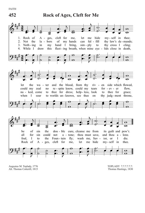 Rock of Ages, Cleft for Me | Hymnary org