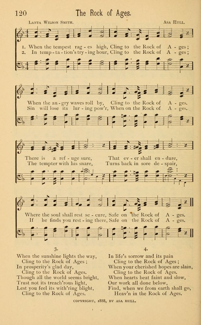 Temperance Rallying Songs: consisting of a large variety of solos, quartettes, and choruses, suited to every phase of the great temperance reformation page 120