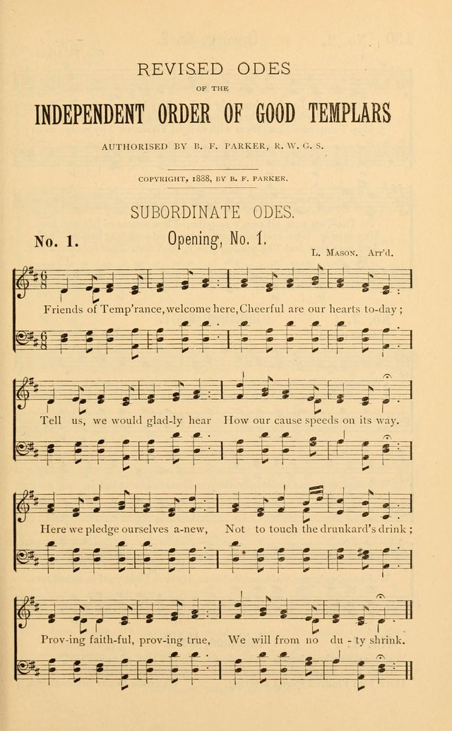 Temperance Rallying Songs: consisting of a large variety of solos, quartettes, and choruses, suited to every phase of the great temperance reformation page 149