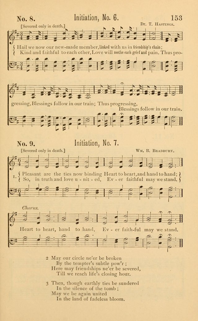 Temperance Rallying Songs: consisting of a large variety of solos, quartettes, and choruses, suited to every phase of the great temperance reformation page 153