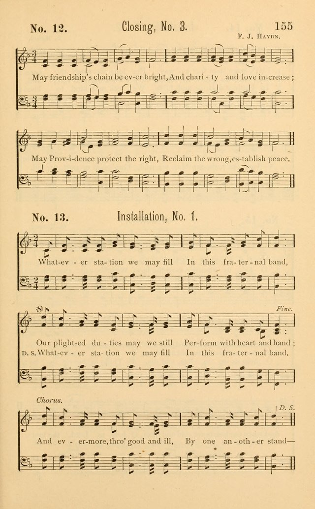 Temperance Rallying Songs: consisting of a large variety of solos, quartettes, and choruses, suited to every phase of the great temperance reformation page 155