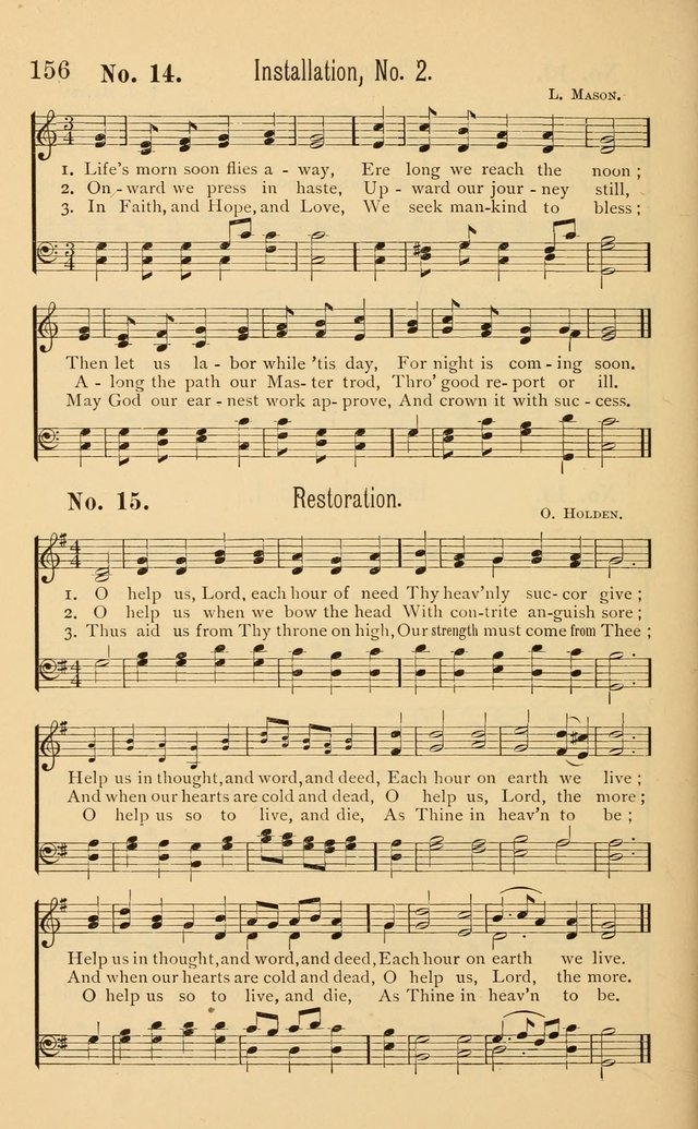 Temperance Rallying Songs: consisting of a large variety of solos, quartettes, and choruses, suited to every phase of the great temperance reformation page 156