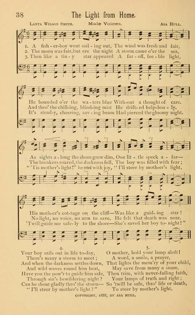 Temperance Rallying Songs: consisting of a large variety of solos, quartettes, and choruses, suited to every phase of the great temperance reformation page 38