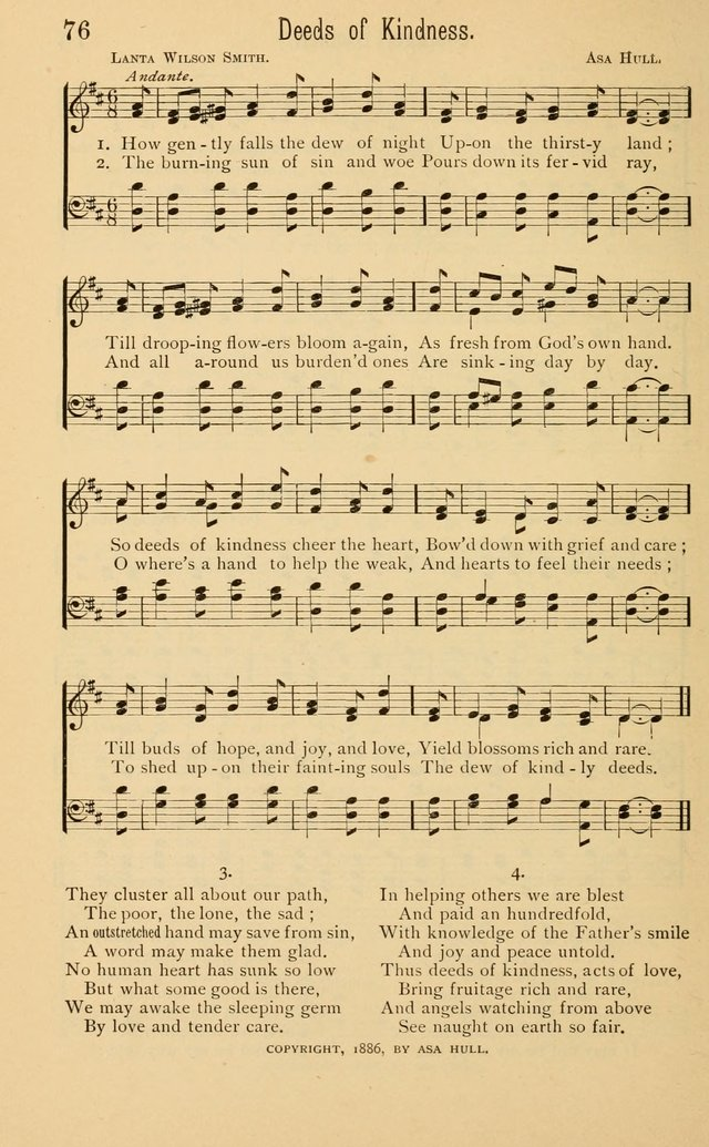 Temperance Rallying Songs: consisting of a large variety of solos, quartettes, and choruses, suited to every phase of the great temperance reformation page 76