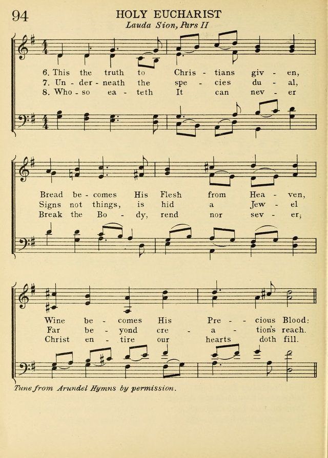 A Treasury of Catholic Song: comprising some two hundred hymns from Catholic soruces old and new page 116